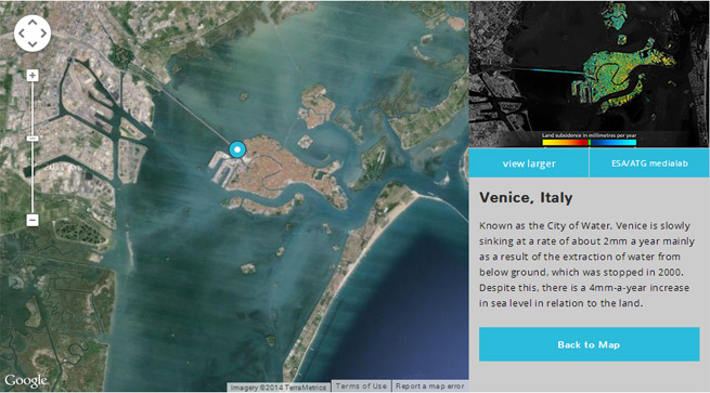 Satellite view of venice